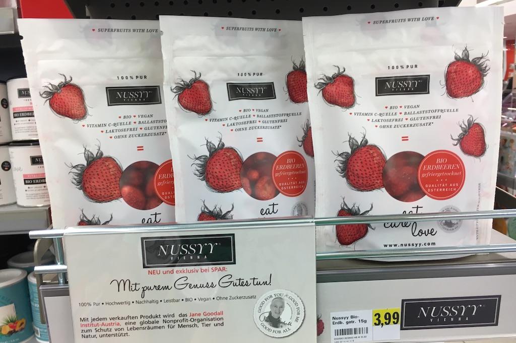 Nussyy Gefriergetrocknete Bio-Erdbeeren aus Österreich