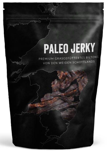 Paleo Jerky Beutel Premium Grasgefüttertes Bilton von den Weiden Schottlands