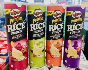 Pringles Rice Fusion -Red Curry -Peking Duck-Chicken Tikka Masala-BBQ Teriyaki