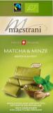 Maestrani Schweizer Bioschokolade mit Matcha und Minze