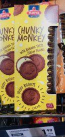 nora Chunkey Monkey Doppelkekse mit Bananncreme-Füllung
