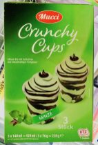 ALDI Mucci Crunchy Cups Minze Eiskrem