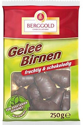 Berggold Chocolatiers Gelee birnen fruchtig und Schokoladig 250 Gramm