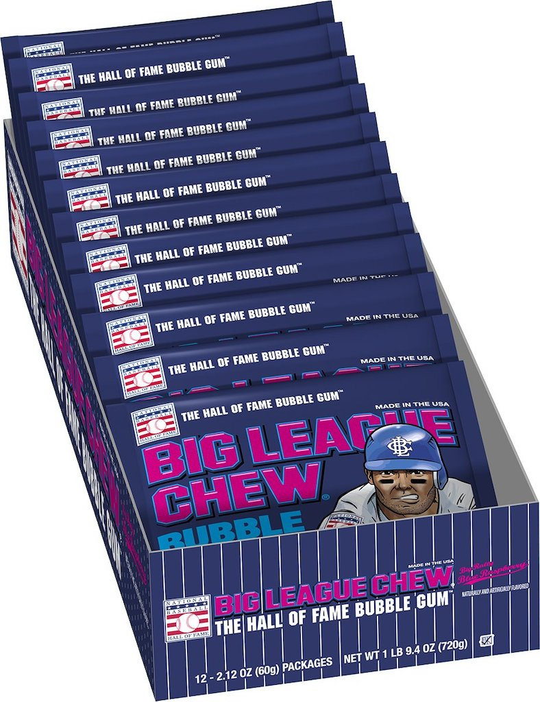 Big League Chew The Hall of Fame Bubble Gum