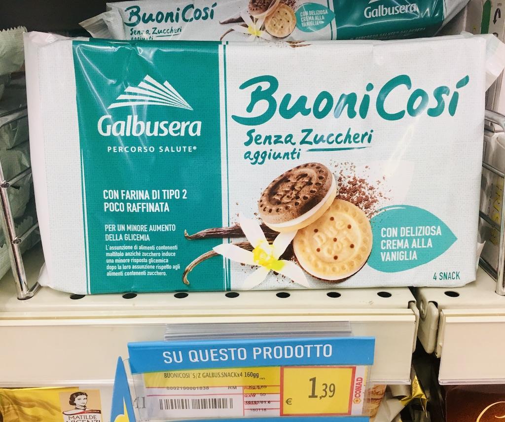 Galbusera Buoni Cosi ohne Zucker Vanille-Kekse