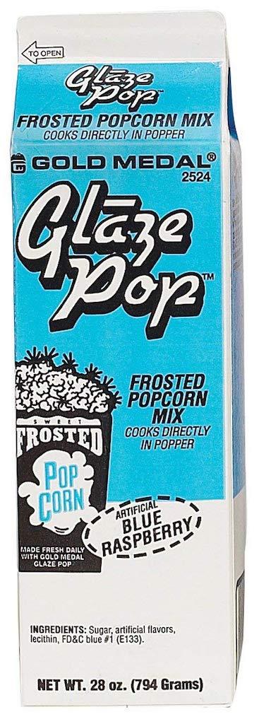 Glaze Pop Frosted Popcorn Mix Blue Raspberry