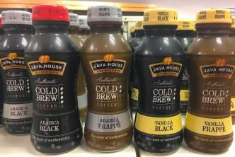 Java House Cold Brew Coffee Arabica Black Arabica Frappé Vanilla Black Vanilla Frappe