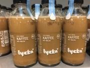 Lycka Cold Brew Kaffee mit Milch in Glasflasche Bio