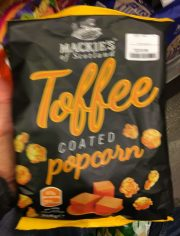 Mackies of Scotland Toffee coatd popcorn