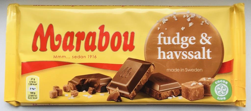 Marabou fudge+havssalt made in sweden Cocoa Life Tafelschokolade