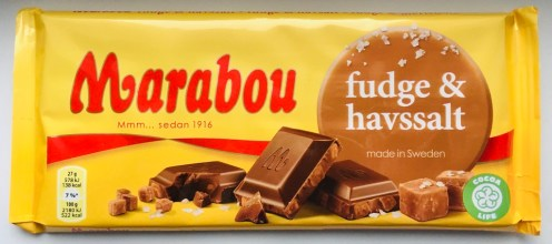 Marabou fudge+havssalt made in sweden Cocoa Life Tafelschokolade
