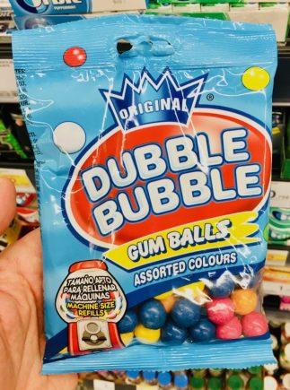 Original Dubble Bubble Gum Balls Assorted Colours Kaugummi-Bälle für Kaugummiautomaten
