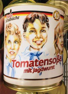 Original Schulküche DDR Tomatensoße mit Jagdwurst Dose