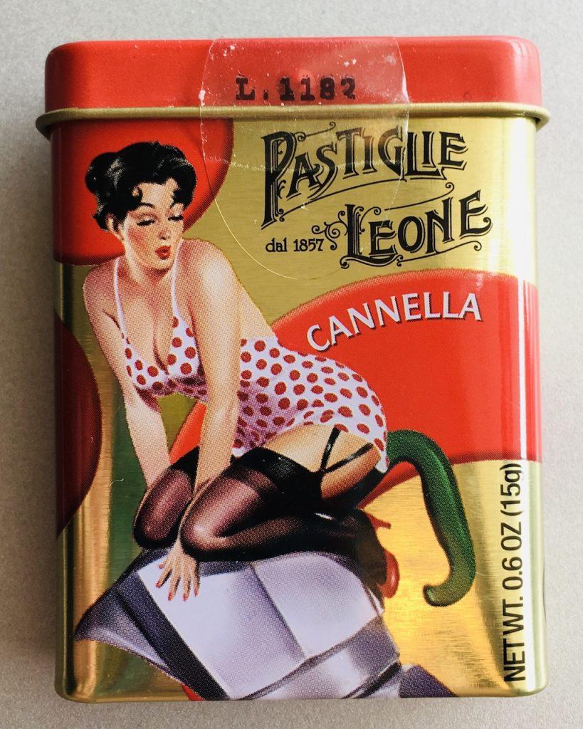 Pastiglie Leone Pastillen Italien Frauenmotiv Cannella Zimt