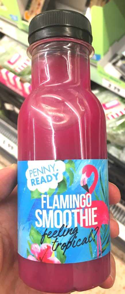 Penny Ready Flamingo Smoothie feeling tropical