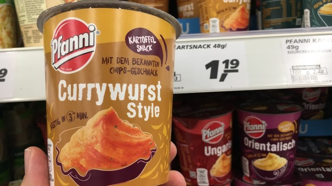 Pfanni Currywurst Style kartoffelsnack