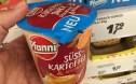Pfanni Süsskartoffel mit Röstzwiebeln.