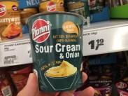 Pfanni Sour Crem+Onion Kartoffelsnack Mit dem bekannten Chipsgeschmack 48 Gramm