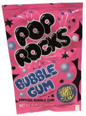 Pop rocks Bubble Gum Turns into Gum 10-5 Gramm Popping Candy