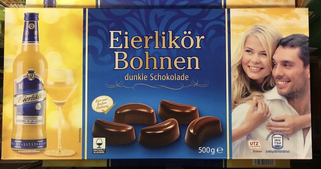 Rückeforth Eierlikör Bohnen dunkle Schokolade 500 Gramm