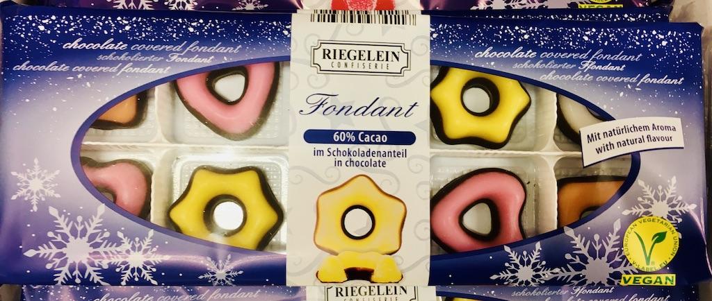 Riegelein Fondant-Formen mit Schokoladenboden