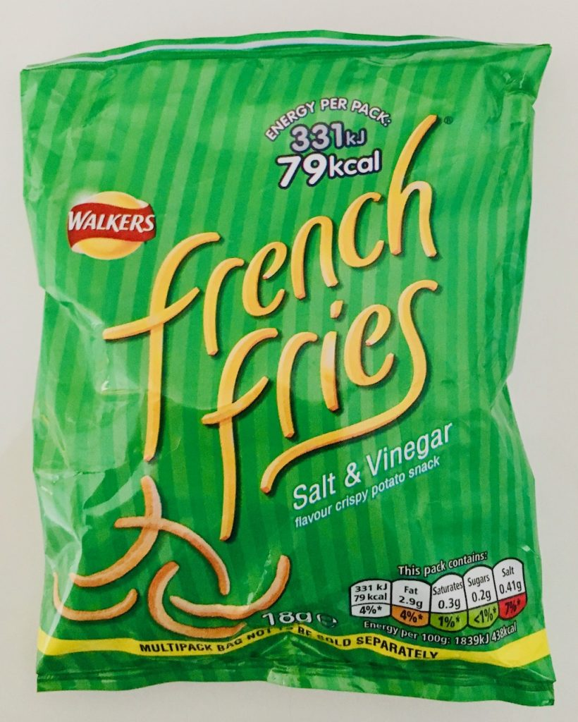 Walkers french fries Salt+Vinegar
