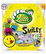 Fruchtgummi-Smileys mit FIZZ (Brause) von Lutti