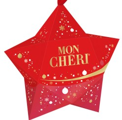 Stern-Verpackungsvariante zur Weihnachtszeit von Mon Chéri.
