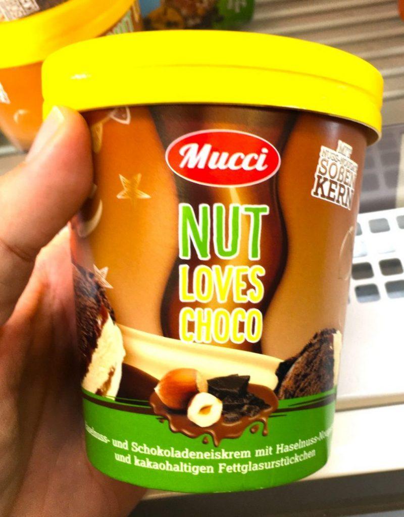 Aldi Mucci Nut Loves Choco Eiskrem
