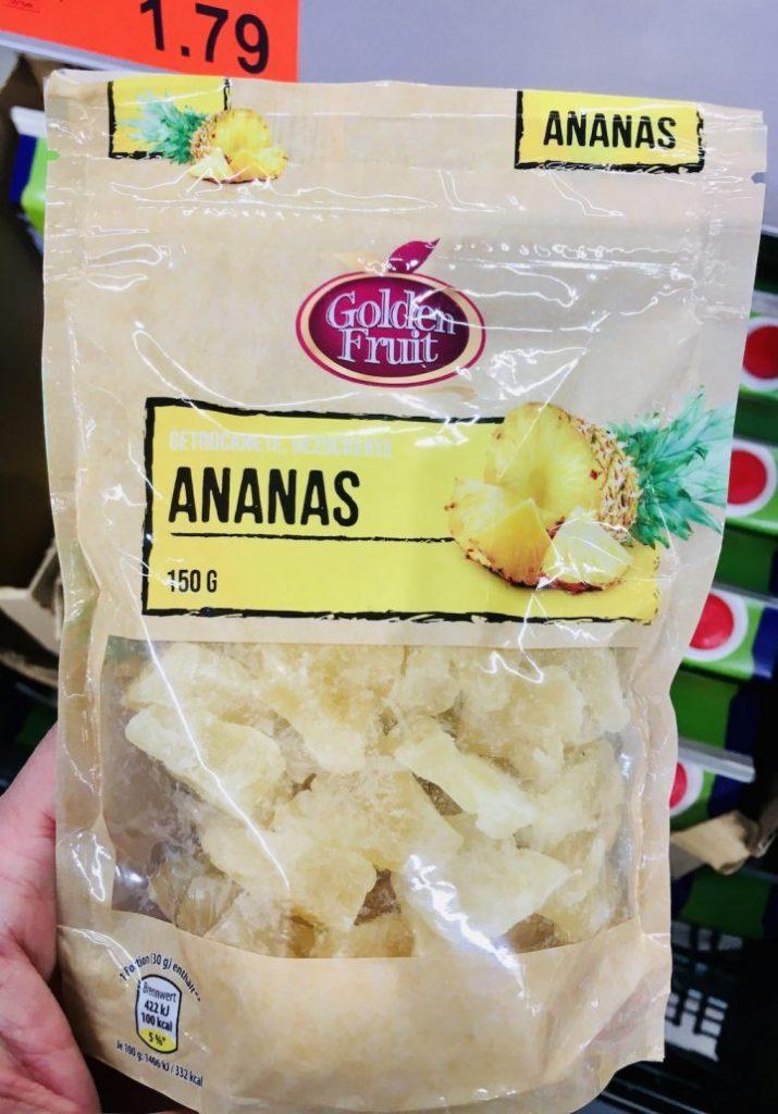 Golden Fruit Getrocknete Ananas 150 Gramm