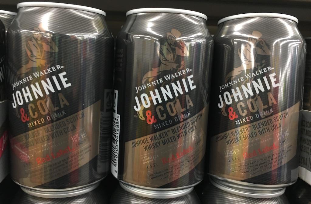 Johannie Walker Johnnie & Cola Mixgetränk in der Dose