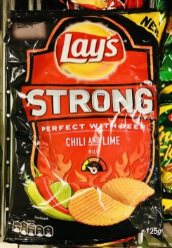 Lays Strong Chili+Lime Mild 125 Gramm