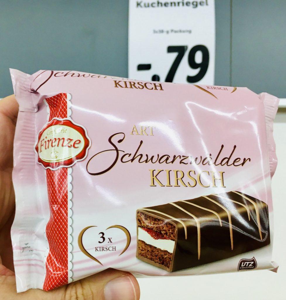 Lidl Firenze Minikuchen Art Schwarzwälder Kirsch 3 x YesTorty-Imitat