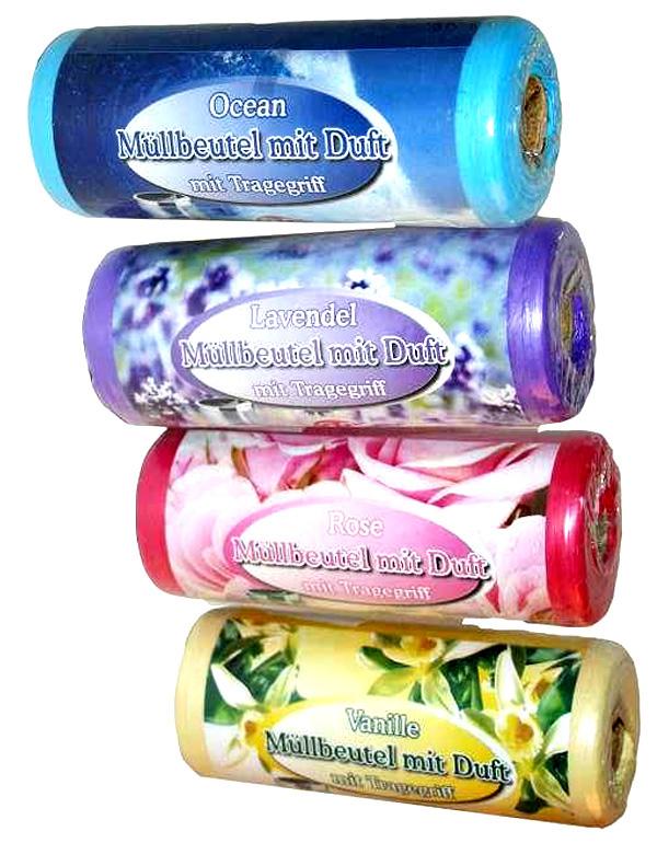 Müllbeutel mit Duft Ocean-Lavendel-Rose-Vanille