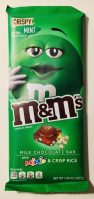 Mars m+ms Milk Chocolate Bar Crispy Mint 108 Gramm