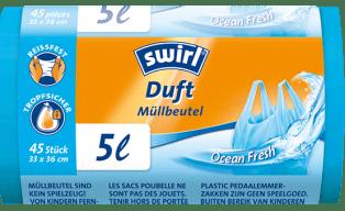 Swirl Duft-Müllbeutel Ocean Fresh