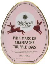 Charbonnel + Walker Pink Marc de champagne truffle egg shaped truffles 200g