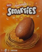 Nestlé Smarties Osterei gefüllt mit orangenen Schokolinsen