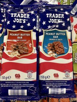 Aldi Trader Joe's Peanut Butter Bar Creamy Classicund Peanut ButterBar Crunch+Salty