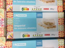 Eroski Turron Imperial mit ganzen Mandeln ohne Zucker