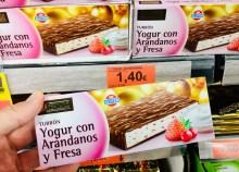 Hacendado Turron Yogurt mit Cranberry und Erdbeere