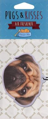 Pugs & Kisses Air Freshener Peachy Pug Bulldogge