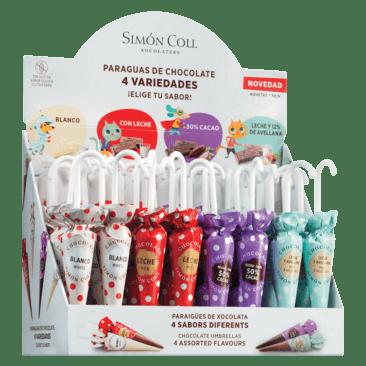 Simon Coll Paraguas de Chocolate 4 Varianten Display