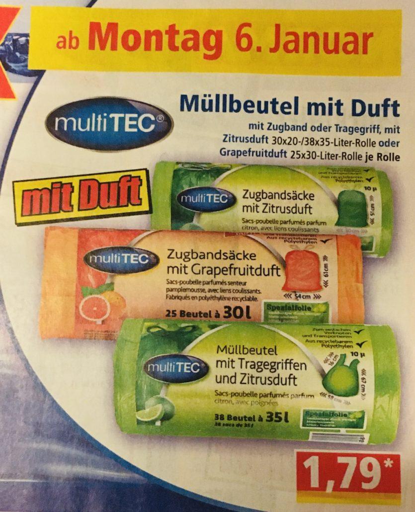 Anzeige von NORMA: Duftmüllbeutel mt Zitrusduft und Grapefruitduft