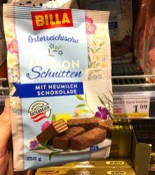 Billa Österreichische Mignon-Schnitten mit Heumilch Schokolade 250 Gramm