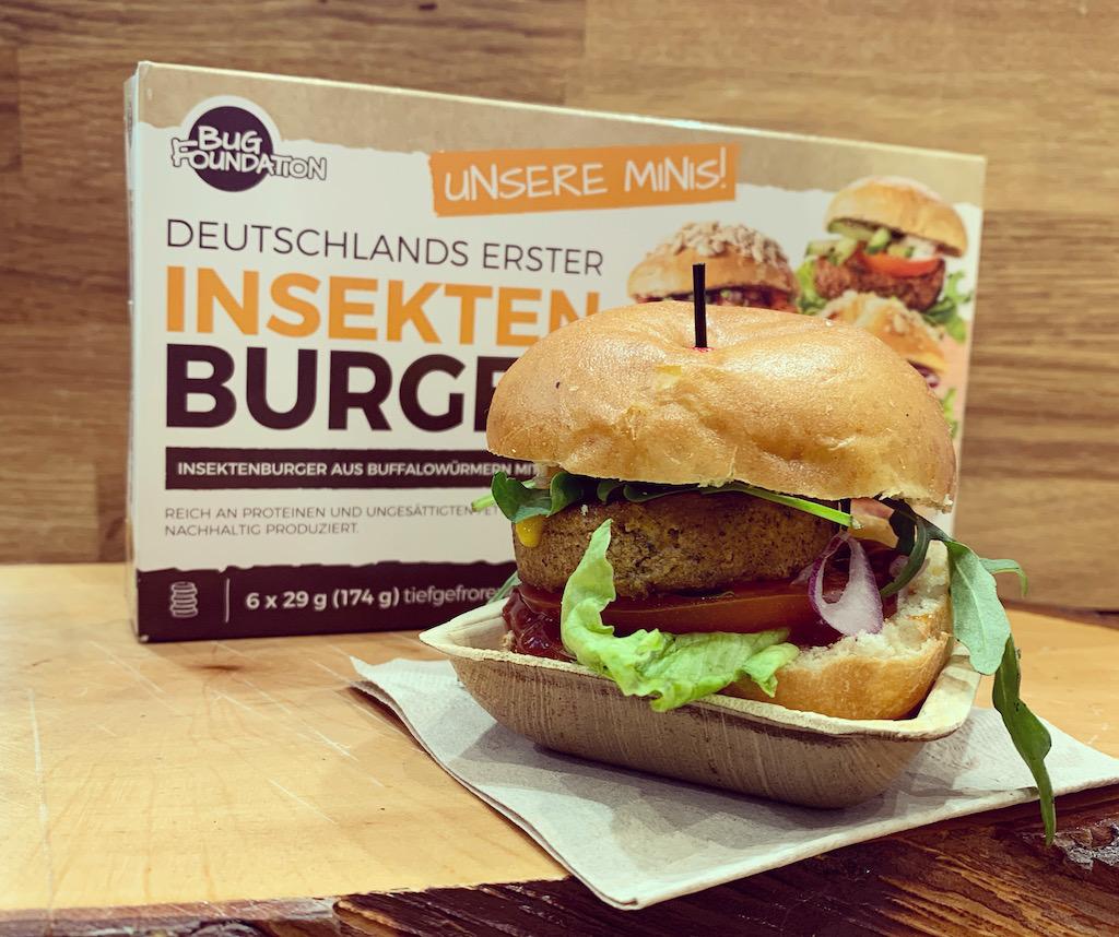 Bug Foundation Deutschlands erster Insekten-Burger 6×29 Gramm Tiefgefroren Grüne Woche 2020