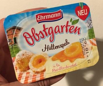 Ehrmann Obstgarten Hüttenspaß á la Marillenknödel