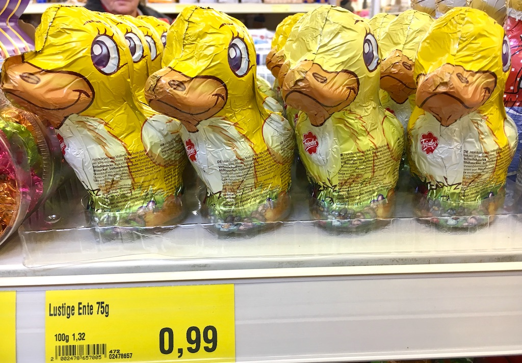 Friedel Lustige Ente Schokoladenhohlfigur