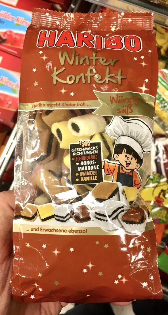 Haribo Winterkonfekt Würzig-süß mit 4 Geschmacksrichtungen Schokolade Kokos-Makrone Mandel Vanille