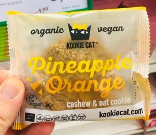 Kookie Cat organic vegan Pineapple Orange Cashew+oat cookies